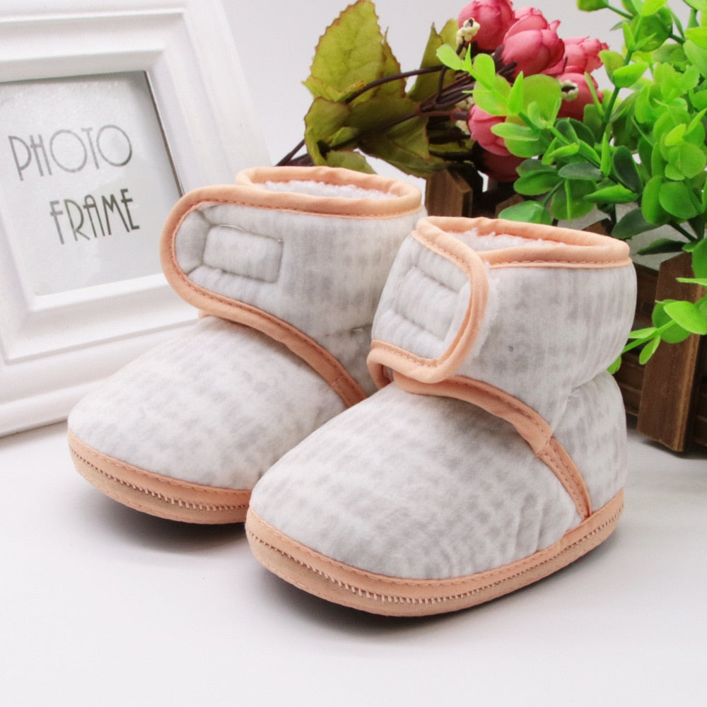 af0c9ce3d4aa Newborn Baby Boy Shoes Non-Slip Unisex Winter Warm Baby Booties A014 Soft  Soled Infant