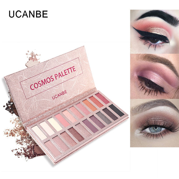 UCANBE Cosmos Eyeshadow Palette 20 Color Makeup Set Glitter Matte Eye Shadow Soft Natural Nude Pigment Rose Gold Beauty Cosmetic