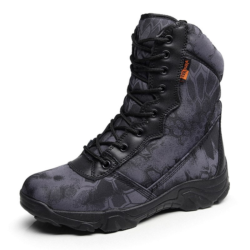 277da3f70ba Camouflage Men Tactical Boots Military Desert Combat Boots Outdoor  Waterproof Army Boots Desert Safty Work Shoes