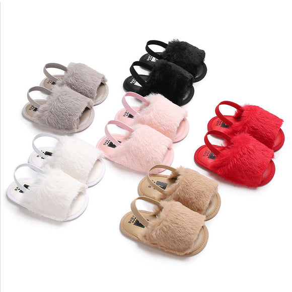 2018 New Fashion Cute Solid Infant Toddler Baby Girls Sandals Girls Soft Sole Shoes Casual Summer