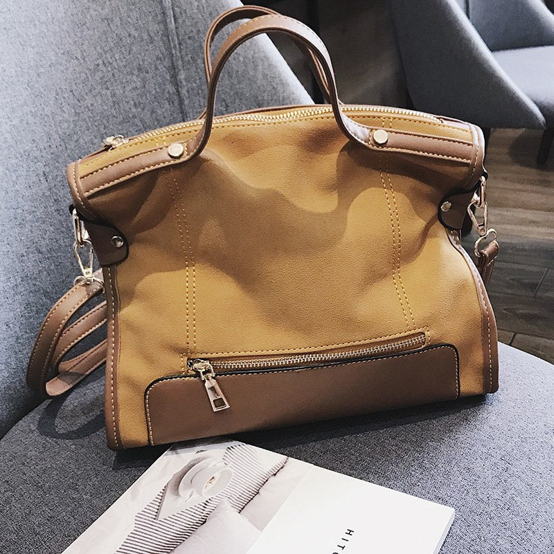 ... ICEV famous designer brand women leather handbags large capacity  shopping bag high quality big black casual 187f223c3217a
