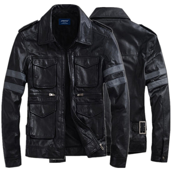 Hot Sale Motorcycle Cavalier Jacket for BIOHAZARD Game Resident Evil 6 Leon Jacket S. Gentlemen PU Leather Outerwear Coat