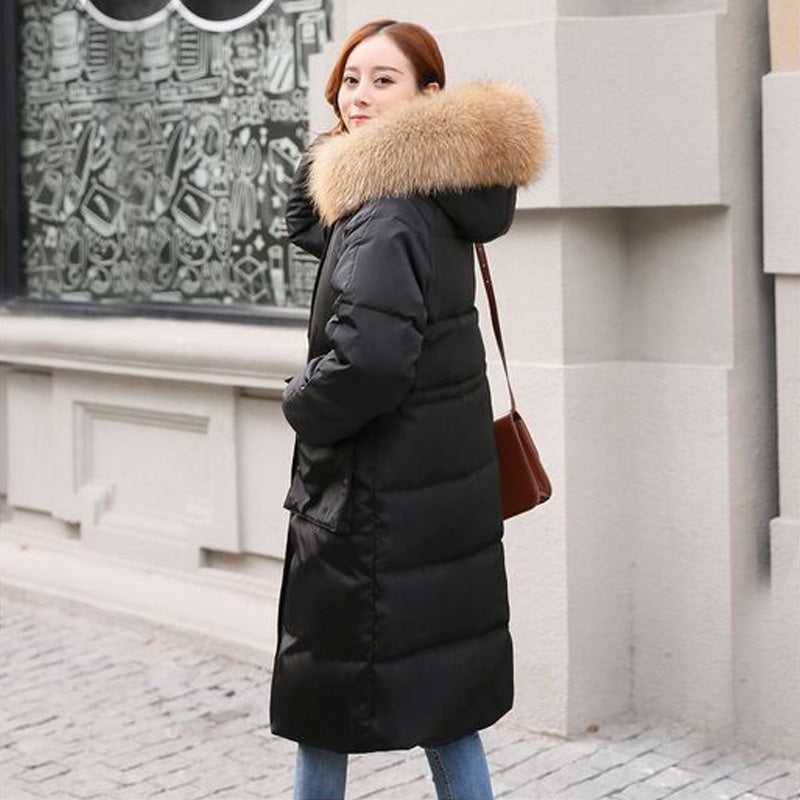 63fa3a2ddb21 Real Natural Fur 2018 Winter Jacket Women Hooded Oversize Women Coat Thick  Warm Coat Parka White