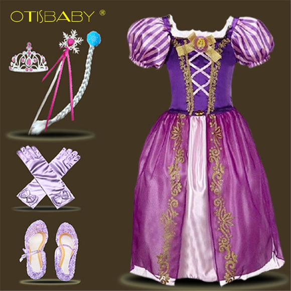 Rapunzel Dress for Girls Toddler Girls Summer Clothing Girl Sleeping Beauty Aurora Princess Dress 0922 dress girl dress ceremony
