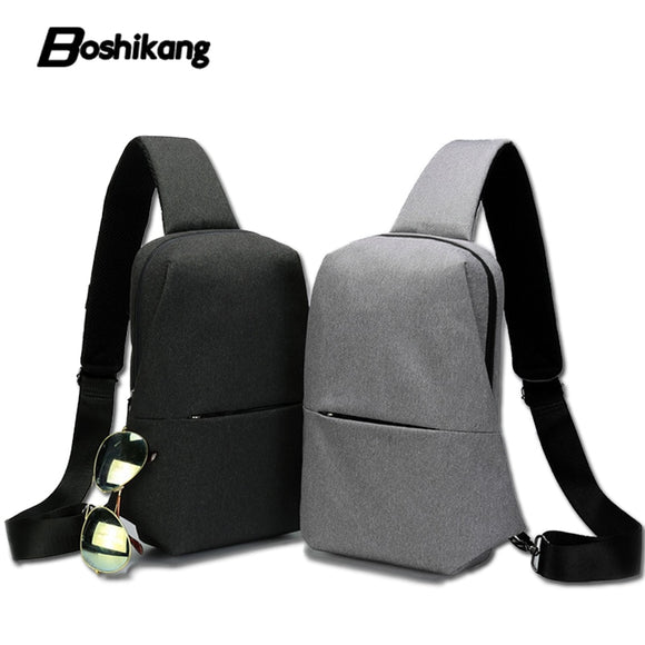 Boshikang Men Chest Bag Buckle Design Men Oxford Crossbody Bag Small Sling Messenger Bag for iPad Cellphone Daypack