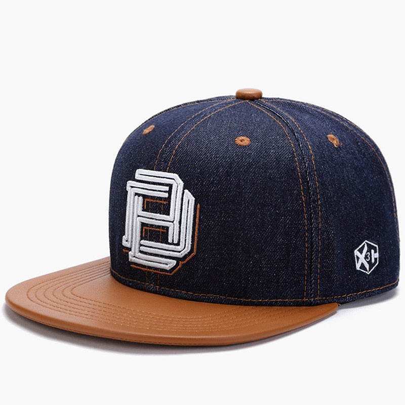 b8763351481 Unisex Leather MNKNCL High Quality Snapback Cap Letter Embroidery Flat
