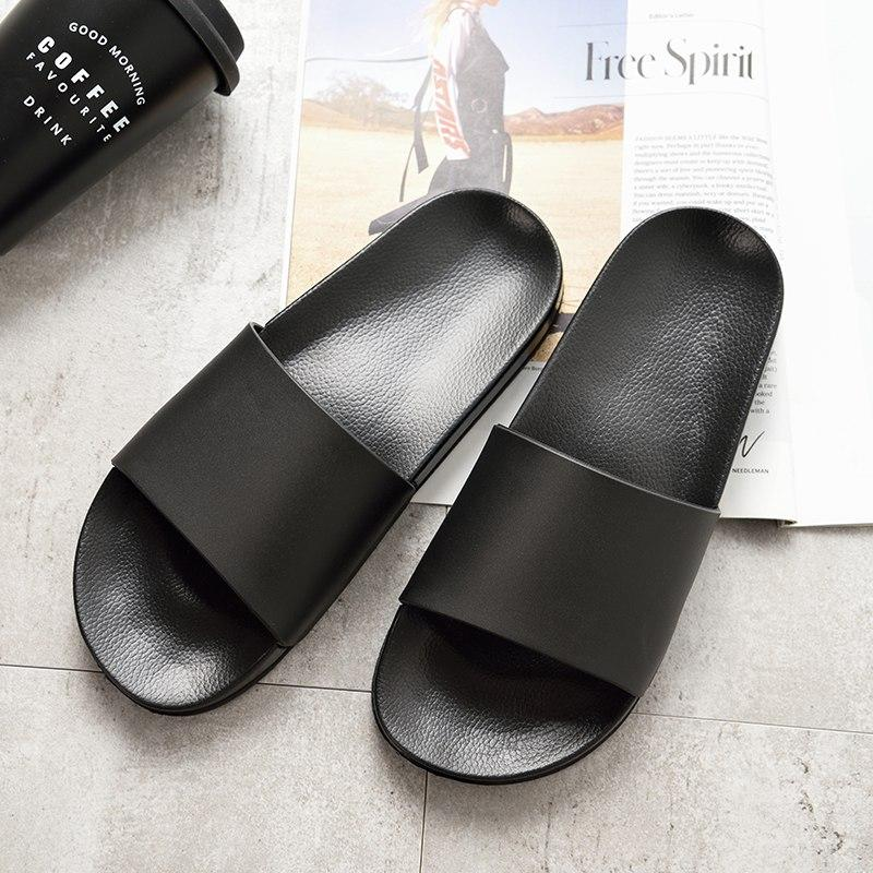 f4f79b9e43953 Asifn Men Slippers Casual Black   White Shoes Non-Slip Slides Bathroom