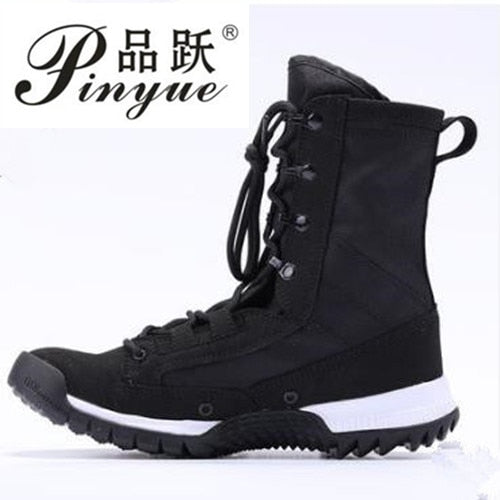 Men Boots Shoes Male Desert Work Ankle Botas Tactical Men's Working Combat Hunting Military Stitching  Super light combat boots