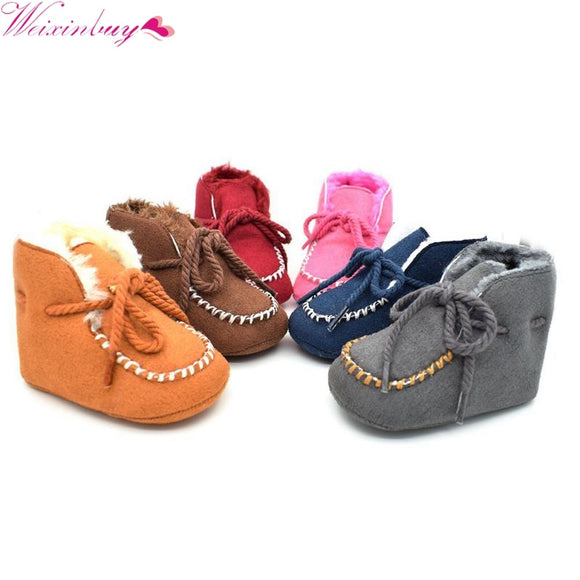 Girls Baby Booties Sheepskin Genuine Leather Boy Baby Boots Fur Newborns Winter Baby Shoes Boots Infants Warm Shoes Fur Wool