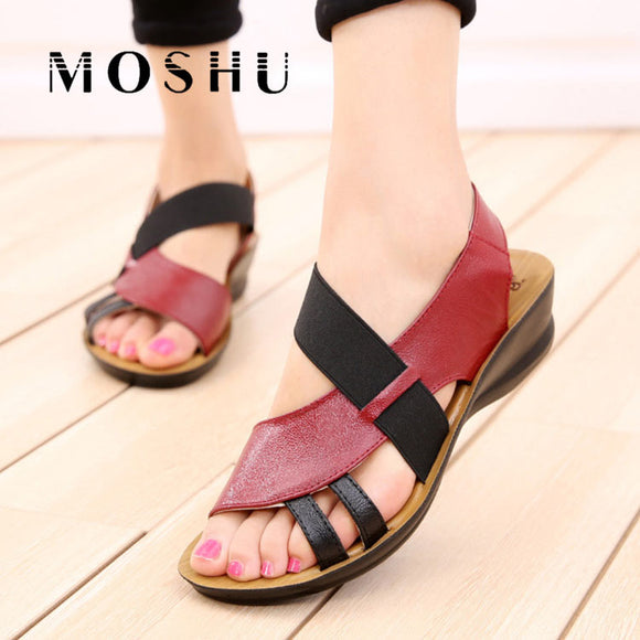 Women Sandals Leather Flat platform Ladies Causual Slippers Summer Occasions Comfortable Shoes Zapatos Mujer