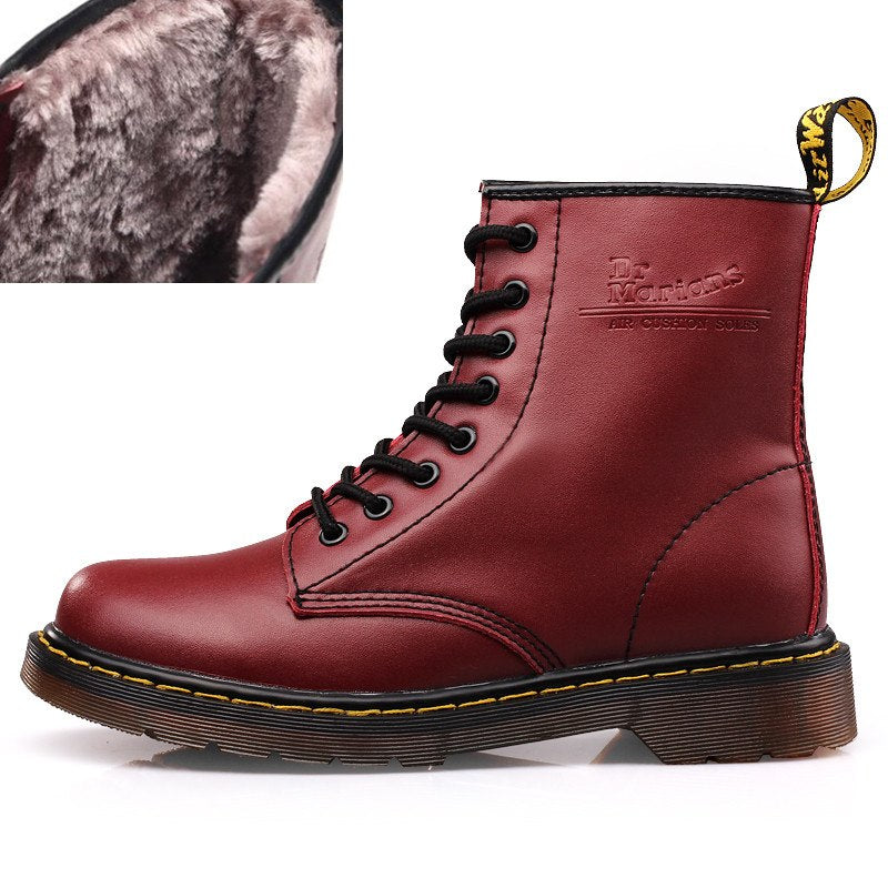 5e3373ddfa1 DR. Martens 1460 Martin Boots Women   Men s Boots Couples Leather Ankle  Boots Plus Velvet