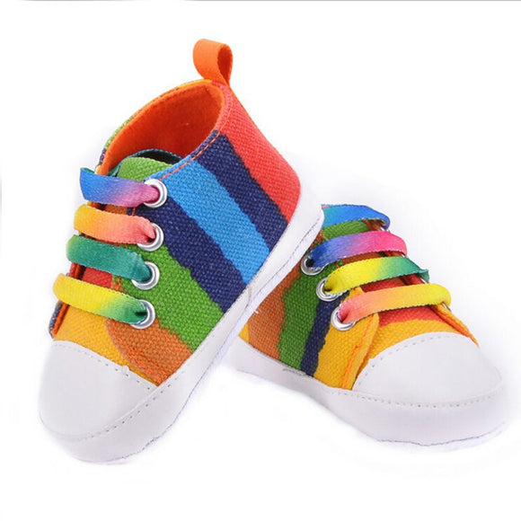 Infants Baby Boy Girl Soft Sole Crib Shoes Casual Lace Prewalkers Sneaker 0-18 M New