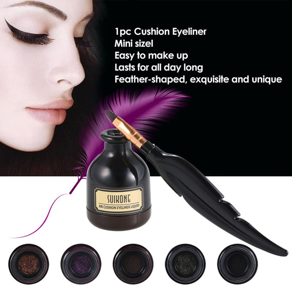 1pc Cushion Eyeliner Pencil Pen Women Cosmetic Beauty Eyeliner Waterproof Long-lasting Eye Liner Cream Comestic Tool