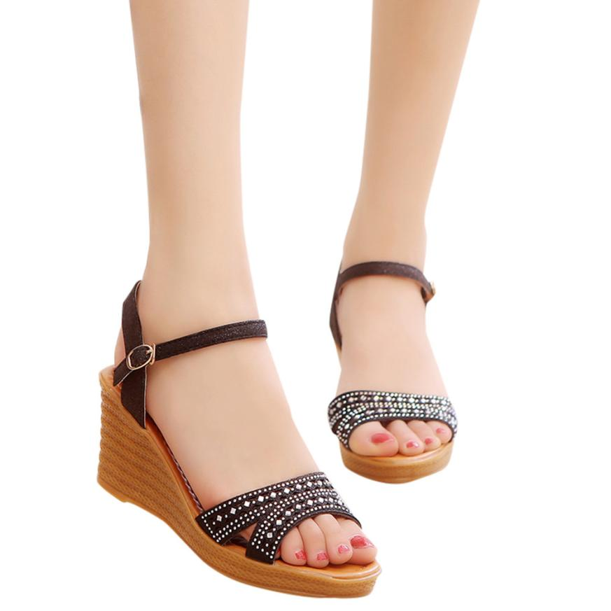 ... YOUYEDIAN (ship from RU)Women Fish Mouth Platform High Heels Wedge  Sandals Buckle Slope ... 275f7aea3dcd
