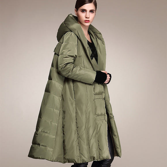 Women's Long Skirt Down Jackets