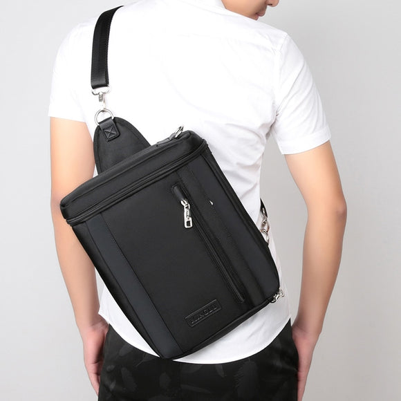 Men's bags A4 bag briefcase business casual handbag vertical multifunctional IPAD single shoulder bag Oxford spinning