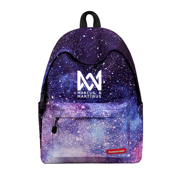 Marcus And Martinus Backpack New arrival Printing Women mochila Star Laptop bags travel kids school bag For Galaxy Backpacks