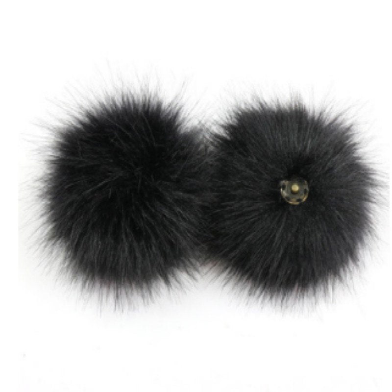 b081720af9b 10 pieces lot Faux Raccoon Fur Pompoms Hair Ball Dyeing Raccoon Fur Po