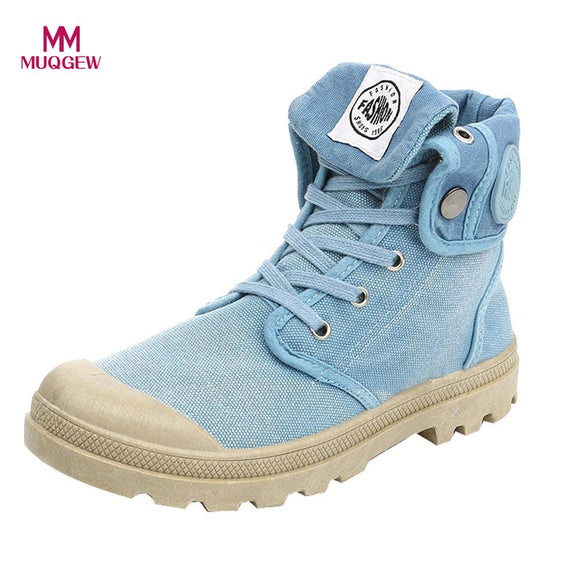 2018 New Canvas Shoes Women Boots Palladium Style Fashion High-top Military Ankle Casual Shoes Female High Quality Boots