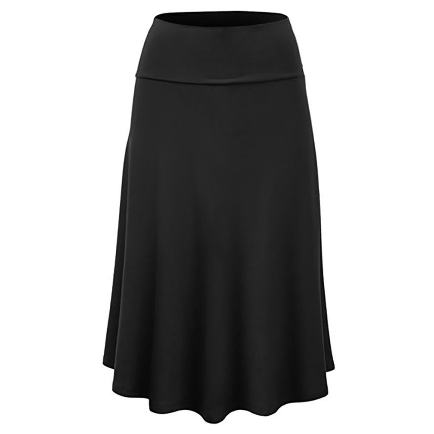 ... Sunfree 2018 New Hot Sale Women Plus Size Solid Plus Size Knee-Length Skirt  Free ... decd77dbe10e