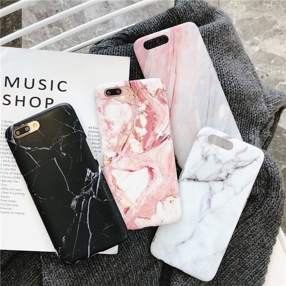 Luxury Marble Phone Case For Iphone 8 7 Plus X 6S 6 S Case Grip Stand Holder Silicone Soft For Iphone XS MAX XR Case Cover Coque