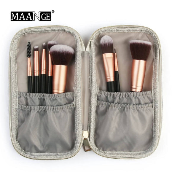 Professional Portable Cosmetic Makeup Brush Bag Fashion Marble Case Beauty Brush Bag