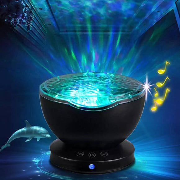 Ambient star Projector Ocean Wave Sleep moon lamp USB Night Light rechargeable For Baby light Children gift Projector music