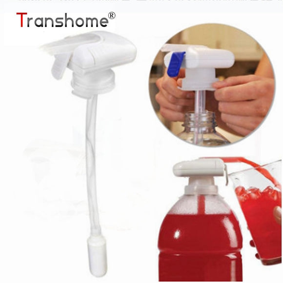 Transhome Magic tap Creative Beverage Drink Dispenser Electric Automatic Drinking Straw Fruit Juice Milk Drinks Suck Tools