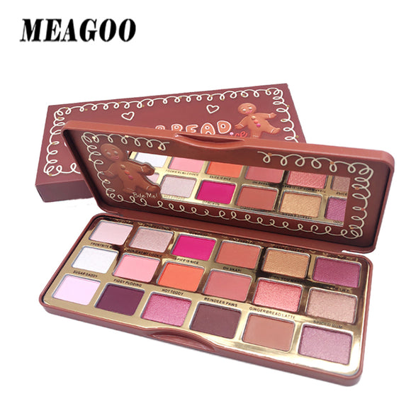 MEAGOO Christmas Gingerbread Eyeshadow Pallete Shimmer Glitter Women Matt Makeup Ey Shadow Make Up Cosmetics paleta de sombra