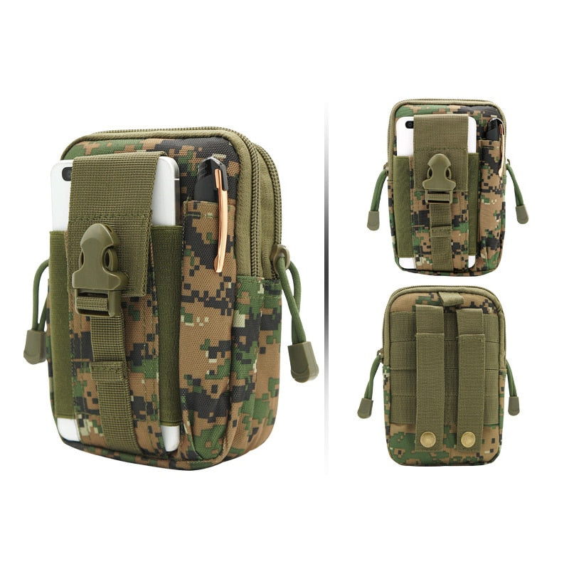 e364f1982d6 Laamei Army Military Waist Bags Waist Pack Small Funny Pack Belt Bag Oxford  Phone Pouch Work