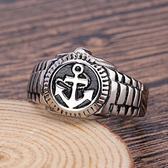 Heavy Metal Anchor Head Stainless Steel Ring