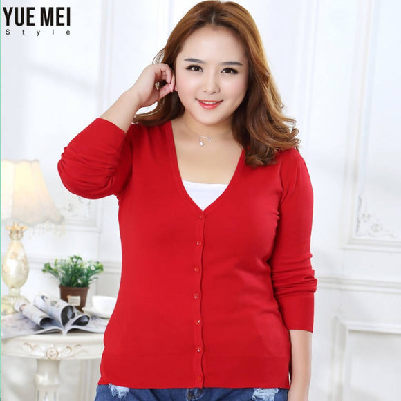 new Sweater Women Cardigan Knitted Sweater Coat Crochet Female Casual V-Neck Woman Cardigans Tops plus size