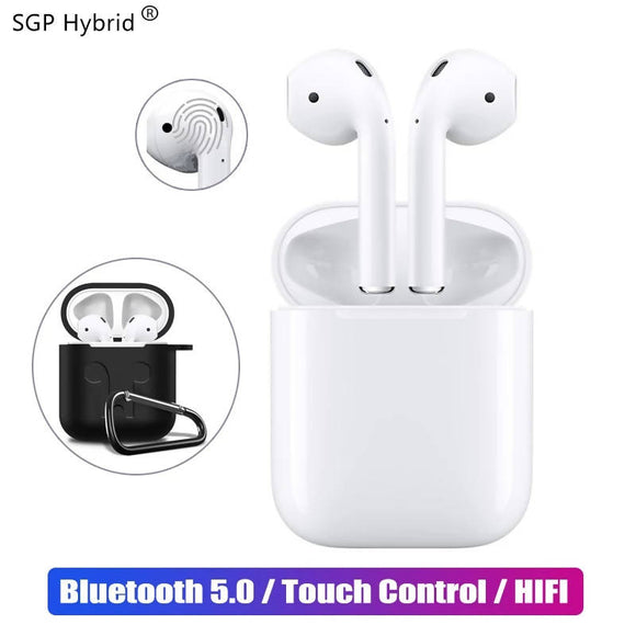 Mini i12 TWS Touch Bluetooth Earphone 5.0 with Case Music 3D Stereo Airpods for Apple Samsung