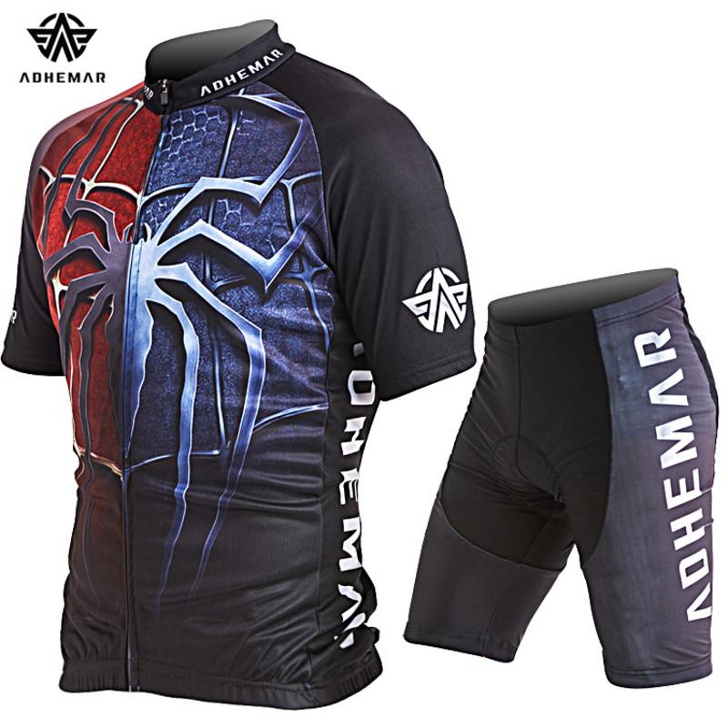 2c9124f9f ... Adhemar short sleeve men cycling clothes polyester cycling jersey set  men polyester cycling jersey Summer bicycle ...