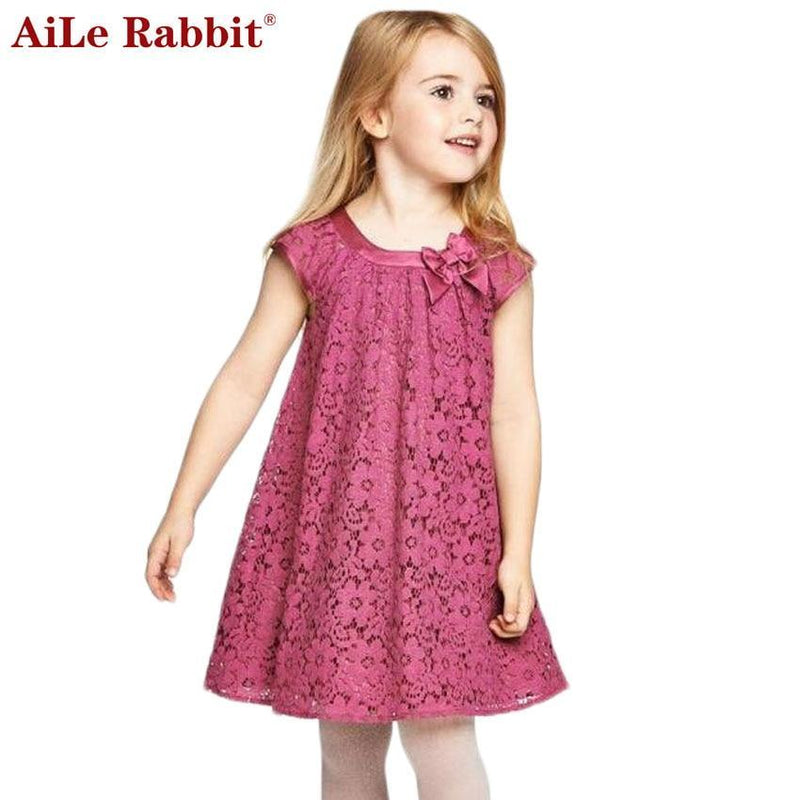 fa28202eb8ca Aile Rabbit Summer Style Lace Girls Dress Baby Girls Casual Dresses  Children s Clothing Vestidos Infantis Toddler