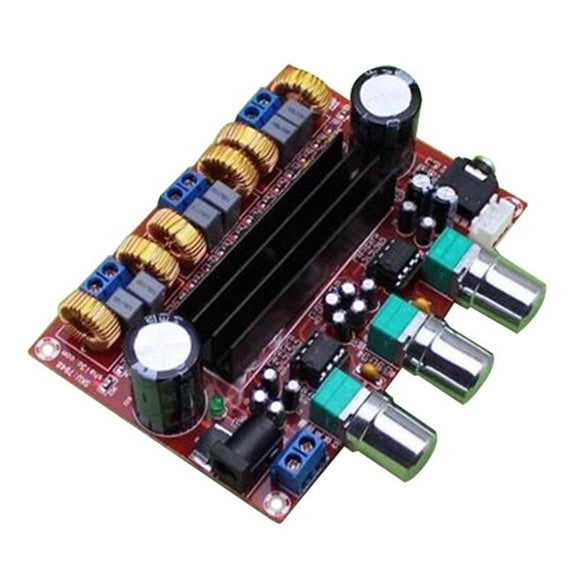 Amplifier Board Sound Amplifier Audio amplificador for Speakers TPA3116D2 50Wx2+100W 2.1 Channel Digital Subwoofer Power 12~24V-Zodeys-Zodeys