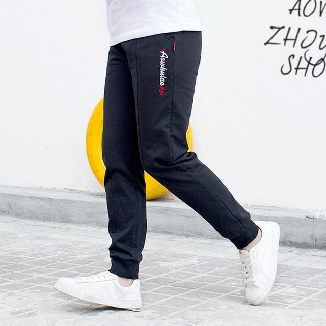 edaecabe35d0 Big Boy Pants Spring Teenage Boy Sports Pants Spring Toddler Casual Kids  Trousers For Boys Clothes