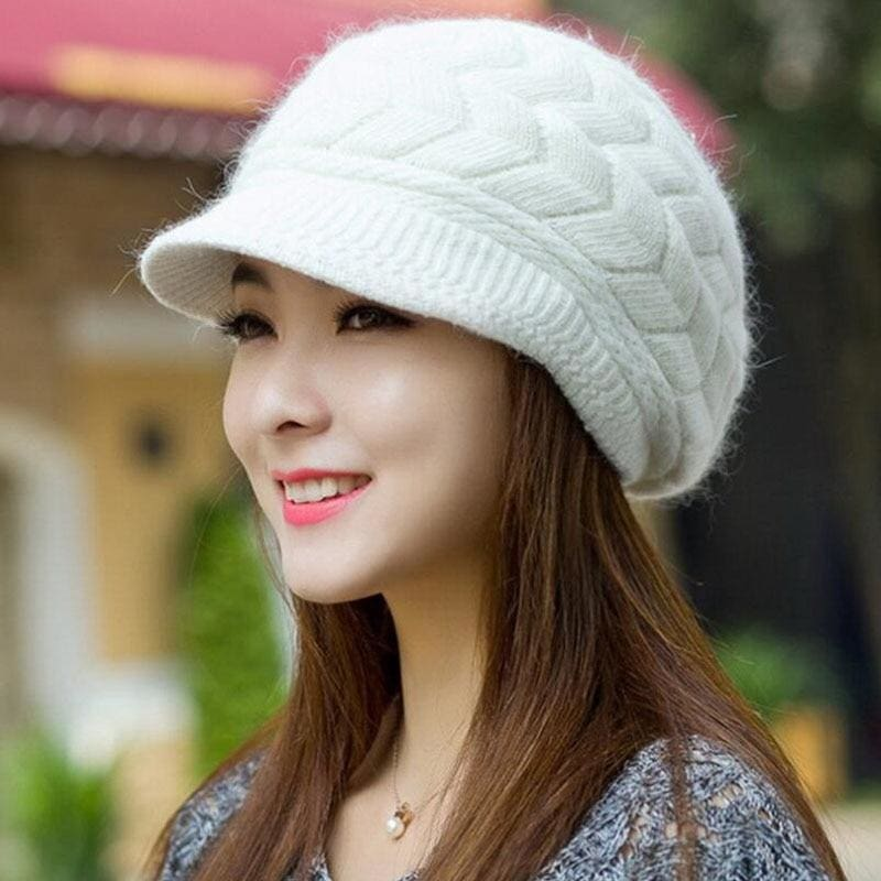 d12e124f5dc Bing Yuan Hao Xuan Knitted Hat Women Winter Hats For Women Ladies Beanie  Girls Skullies Caps