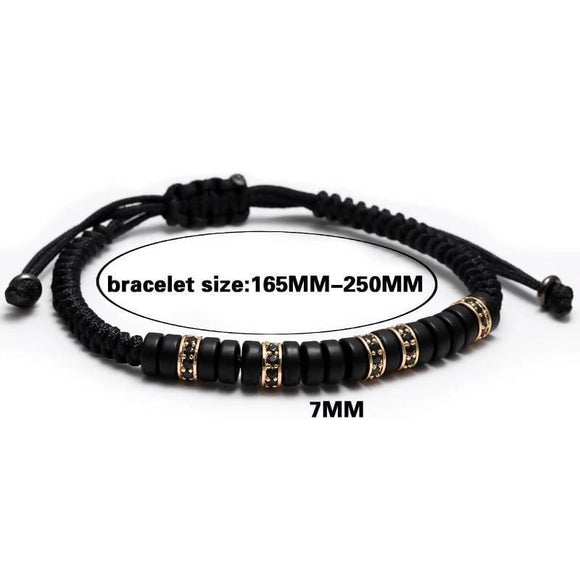 Black Pave Cz Zircon Connector Coconut Shell Bead Braiding Bracelets Apparel & Accessories > Jewelry > Bracelets