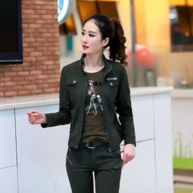97f9bcfd8b6 Bomber Military Jacket Women Casual 2018 Spring Autumn Vintage Coats  Jaqueta Feminina Plus Size 3XL