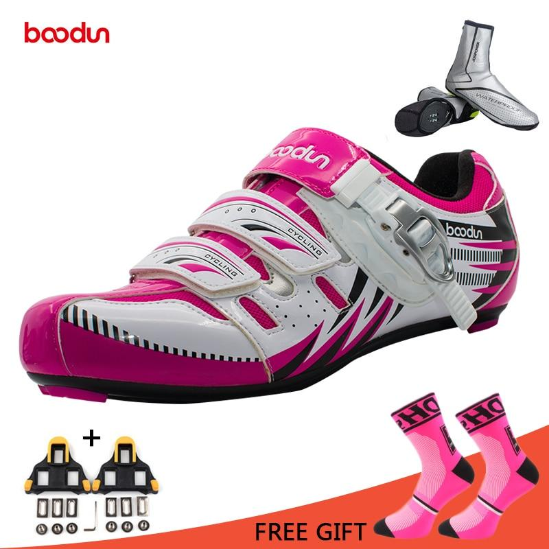 Boodun Road Cycling Shoes Women Breathable Bike Shoes Self-Locking Bicycle  Shoe Athletic Racing Sneakers bb6651893