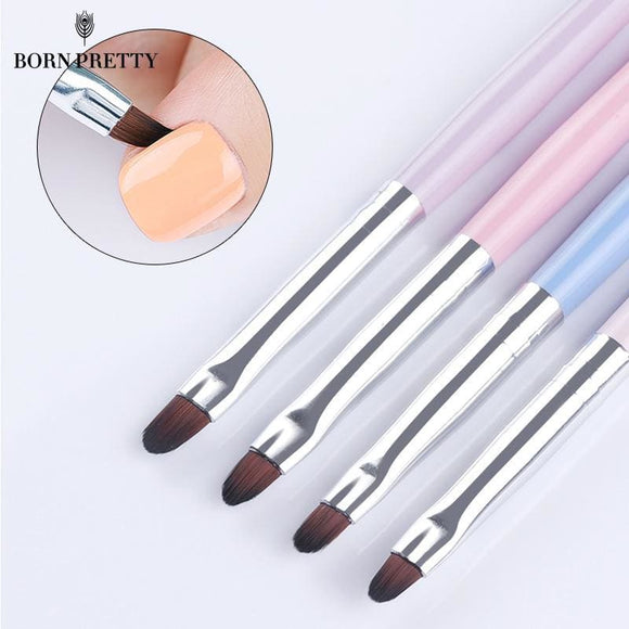 Born Pretty Nail Cleaning Brush Uv Gel Powder Dust Cuticle Clean Pink Blue Handle Round Pen Manicure Nail Art Tool Beauty & Health > Nails >