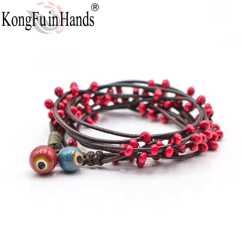 Candy Plant Sweet Style Red Beads Multilayer Bracelet Woman Romantic Valentines Day Present Girlfriend Lovely Birthday