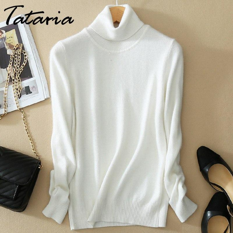 2bd05b44ad Cashmere Turtleneck Sweater Women Long Sleeve Knitted Slim Women s Sweater  Pullover Turtle Neck Warm Winter Sweaters For Women