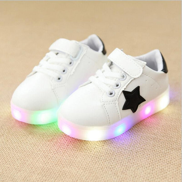 Children Shoes With Light Baby Boys Girls Led Light Up Shoes Kids Luminous Sport Shoes Glowing Sneakers Boys Girls Ligthed Shoes Child