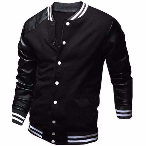College Varsity Leather Jacket Apparel & Accessories > Clothing > Outerwear > Coats & Jackets