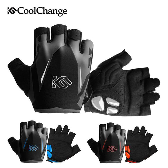 CoolChange Cycling Gloves Summer Sports Anti-sweat GEL Bicycle Gloves Anti-slip Breathable Half Finger Bike Gloves For Men Women-Gloves-Zodeys-GEL Silicone Blue-L-Zodeys