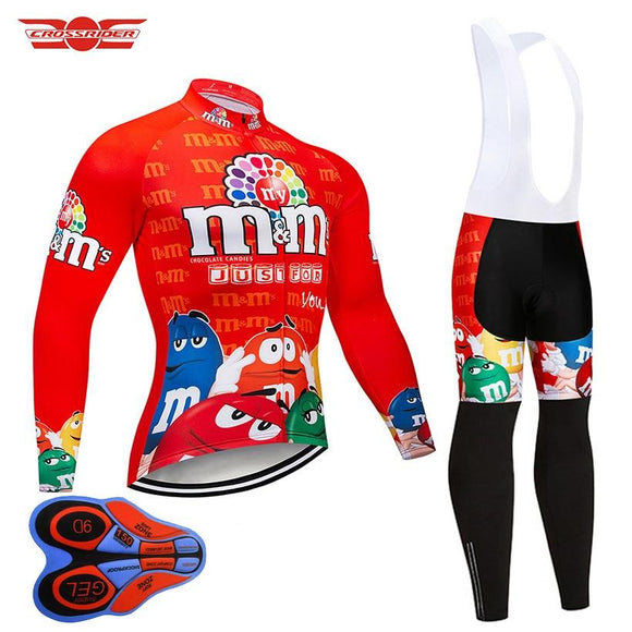 Crossrider Funny Long Sleeve Cycling Jersey Set Breathable Mountain Bike Clothing MTB Bicycle Clothes Wear Ropa Maillot Ciclismo-Zodeys-Black-3XL-Zodeys