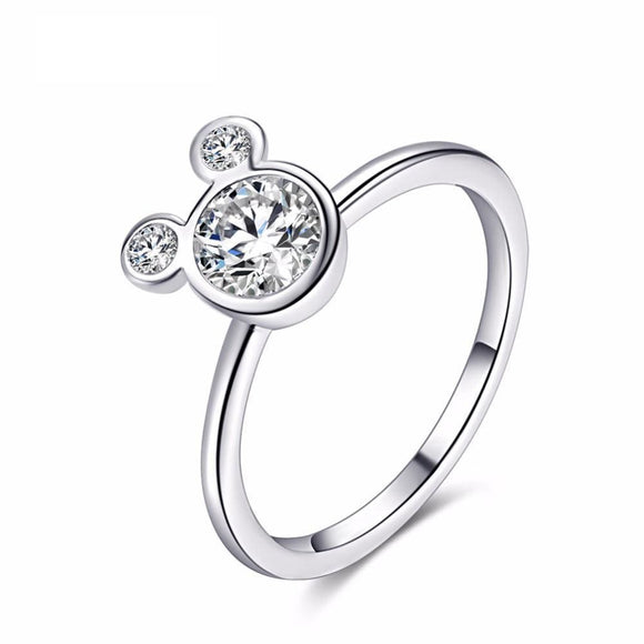 Cubic Zirconia Mickey Shape Ring Jewelry & Accessories > Rings
