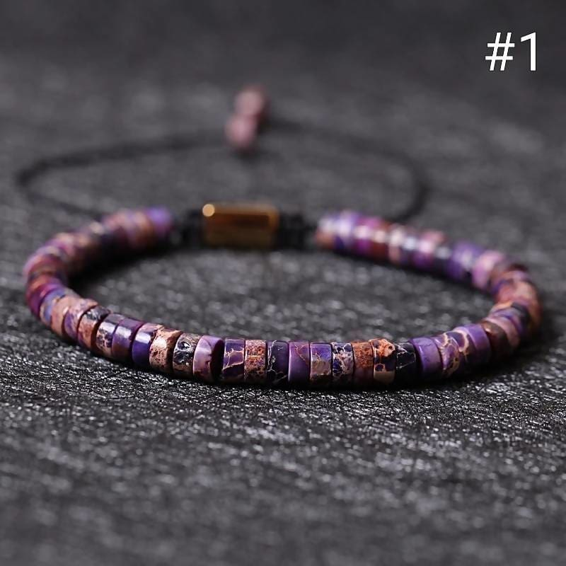 Cute Imperial Stone Natural Mix Color Braid Bracelet Apparel & Accessories > Jewelry > Bracelets